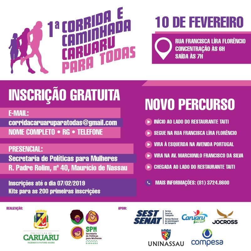 1be11ef3a1 Prefeitura de Caruaru realiza neste domingo (10) a 1ª Corrida e ...