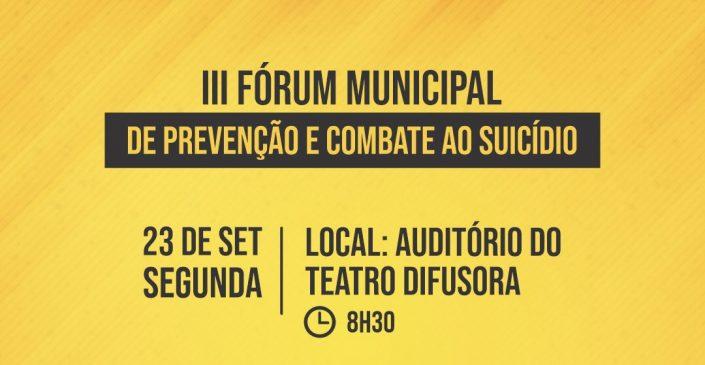Prefeitura de Caruaru realiza inscrições para o III Fórum Municipal de Prevenção e Combate ao Suicídio