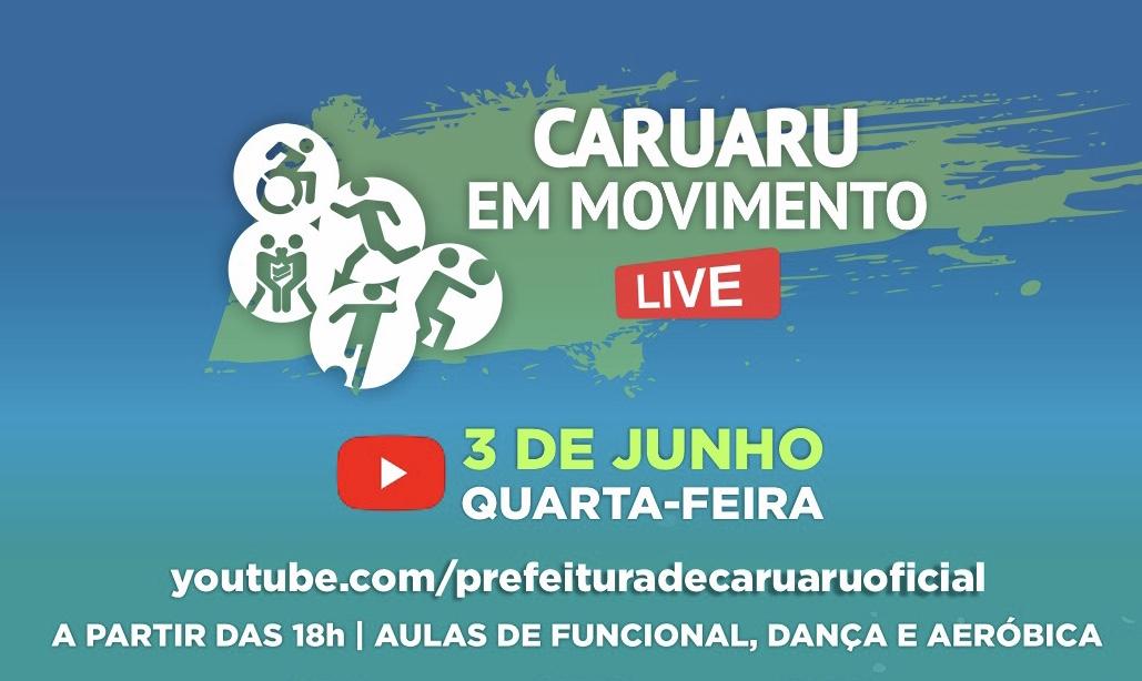 Caruaru em Movimento promove live para estimular exercício em casa durante à quarentena